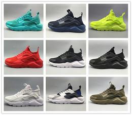 Wholesale Cotton Air Mesh - Newest 2017 air Huarache IV Running Shoes For Men Women, Black White High Quality Sneakers Triple Huaraches Jogging Sports Shoes Eur 36-46