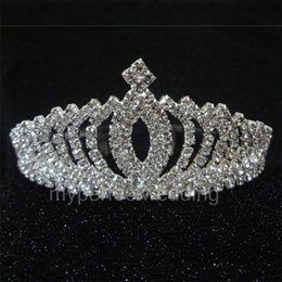 Wholesale Real Fairy Photos - Real Photo Vintage Crystal Tiara Bridal Hair Accessories For Wedding Quinceanera Tiaras And Crowns Pageant Rhinestone Comb Crown Hairbands