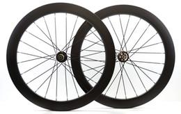 Wholesale Disc Brake Bike Wheel - 700C Carbon fiber wheels 60mm depth disc brake wheelset 25mm width clincher road bike wheelset with Novatec 771 772 hub