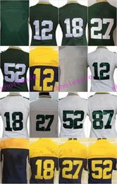 Wholesale Embroidery Ladies - Women's Jerseys #12 Aaron Rodgers #18 Randall Cobb #27 Eddie Lacy #52 Clay Matthews 87 Jordy Nelson Ladies Girls Stitching Embroidery jersey