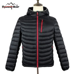Wholesale waterproof mens parka - Wholesale- [Speed Hiker] Mens Down Parka 2016 Winter New Hooded Fashion Top Quality Waterproof Windproof Solid Color Plus size 3XL K8017