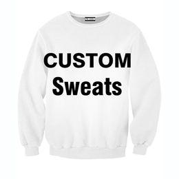 Wholesale Sweat Crewneck - Wholesale-ALMOSUN Harajuku Fashion Custom Crewneck Sweatshirts 3D Print Streetwear Tops Outfits Sweats For Women Men US SIZE XXS-4XL