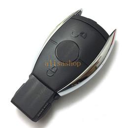 Llaves de reemplazo de mercedes online-Para Mercedes 2 botones de la cubierta de la llave del coche a distancia (estilo europeo) cáscara de la llave del coche de reemplazo para Mercedes
