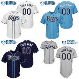 Wholesale Cool White Kids - 2016 Youth Custom Tampa Bay Rays Baseball jerseys Authentic kids Bay Rays Cool Base Stitched Top Quality