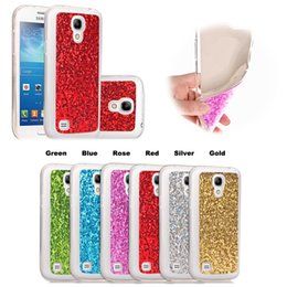 Wholesale S4 Mini Glitter Case - For Samsung Galaxy S4 mini 9190 Cases Covers Inch Soft Flexible Transparent TPU Back Pasting Glitter Shimmering Powder Rough Surface