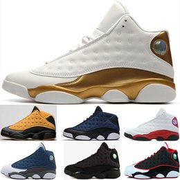Wholesale Games Money - 2018 13 13s men basketball shoes Low Chutney Navy blue Pure Money Chicago black cat DMP He Got Game Playoffs Barons Sneakers 41-47