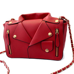 Wholesale Women S Clutches - Wholesale-Designer Handbags High Quality Women PU Leather Jacket Bags Women Clothing Shoulder Messenger Bag Day Clutch Purse bags S-1964
