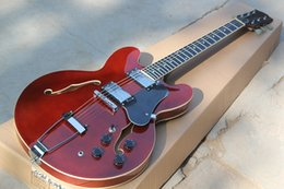 Wholesale Hollow Body Jazz - The Wholesale -2015 High Quality the Factory Customized Semi-hollow Jazz Red Electric Guitar with Double F Holes,Can be changed