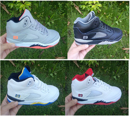 Wholesale Hard Girl - 2017 kids shoes Retro 5 VII chirldren's basketball shoes boys and girls kids 5s sports Basketball Sneakers shoes youth sneakers size 28-35