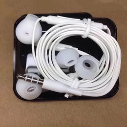 Wholesale Earphone Mic Remote - Original Quality Samsung Galaxy S6 S6 Edge S7 3.5mm In-Ear Earphones Headphone Headset With Mic & Remote Volume Control