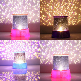 Wholesale Wholesale Dlp Lamps - Wholesale-Hot ! Romatic Cosmos Moon Star Master Projector LED Starry Night Sky Lamp Baby