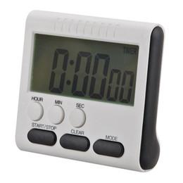 Grande orologio digitale timer online-Nuovo Timer da cucina digitale LCD magnetico di grandi dimensioni con sveglia ad alto volume Sveglia fino a 24 ore 78x73x25MM