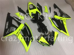 Wholesale Bodywork Yamaha R6 - 3 gifts New Injection ABS Fairing kits 100% Fit for YAMAHA YZFR6 08-12 YZF R6 2008-2012 YZF600 bodywork Yellow and black