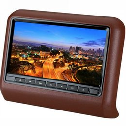 Wholesale Dvd Player Without Screen - 9 inch universal Car DVD player monitor clip-on headrest monitor only screen without dvd function 4colors