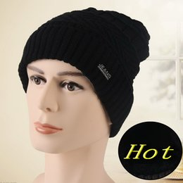 Wholesale Fish Beanies - Autumn and winter cap men and women hats Korean version of the wave of wool hat thicker knit hat Baotou Unisex young hats