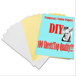 Wholesale Sheets A4 Tattoo - 100 Sheets A4 Temporary Tattoo Transfer Papers Inkjet Stencil Paper