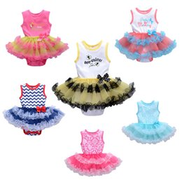 Wholesale Tulle Rompers Baby - Summer Newborn Baby Girl Dress Cotton Bow Baby Rompers For girls Kids Infant Clothes Baby Girls Dresses
