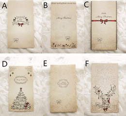 Wholesale Merry Christmas Baking - Fashion Hot Kraft Paper Bag Merry Christmas Gift Bags Party Lolly Favour Bowknot Wedding Packaging 22x12x6cm