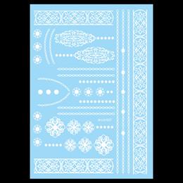 Wholesale Sticker Tribal - Wholesale- 1pc Tribal White Flower Waterproof Tattoo WM-LS1027 Women Body Art Temporary Henna Necklace Choker Jewelry Tattoo Sticker Design