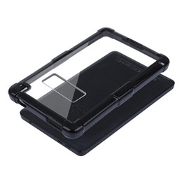Wholesale Color Kindle Cases - Transparent PC TPU Heavy Hybrid Armor Shockproof Protective Case For Kindle Fire HD 6 Inch With Opp Bag