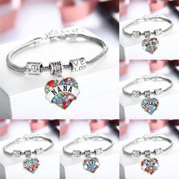 Wholesale Titanium Fishing Hooks - Romantic Love Heart Bracelets & Bangles for Women 12 Style Letter Sterling Silver Jewelry Bracelets Gift for Women Girl Y#207