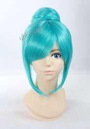 Wholesale Wig Short Light Blue - Women Free Shipping>>> short Light blue Synthetic Anime Project Diva Cosplay Cinderella Wigs