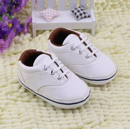Wholesale Girls Summer Shoes Prewalker - new arrive baby first walkers Newborn Girl Boy Soft Sole Crib Toddler Shoes Canvas Sneaker Prewalker Sports Shoes Casual 0-18 M