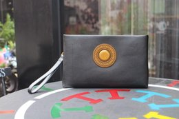 Wholesale 17 Cm - Medusa Brand Genuine leather Clutch bags Top quality Plain fashion bags size 27-17-3 cm model 181315436
