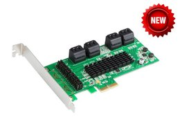 Wholesale Pci Express Port - Marvell Chipset 8 Ports SATA 6GB PCI Express Controller Card PCI-e to SATA 3.0 converter Supports NCQ & Port Multiplier FIS