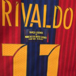 Wholesale Quick Match - 2017 Legends Game Match Worn Player Issue Rivaldo KLuivert Ronaldinho Soccer Jersey Shirt