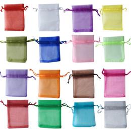Favorecer bolsas de regalo online-¡Gran venta! 7x9cm ORGANZA Premium Favor de la boda BOLSOS DE REGALO Bolsos de la joyería Bolsillos del paquete Bolso puro del hilado, 100pcs / lot bolsos del caramelo