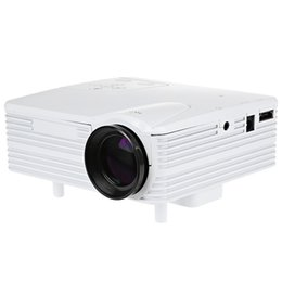 Wholesale Multimedia Entertainment - Wholesale-H80 Portable Mini Projector 640*480 Full HD LED Projector Entertainment Multimedia Video Home Theater US Plug Rich Interfaces