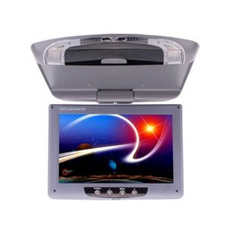 Wholesale Dvd Flips Down Monitor - 9 Inch Car Monitor Roof Mount Car LCD Color Monitor Flip Down DVD Screen Overhead Multimedia Video Ceiling Roof mount Display car monitor
