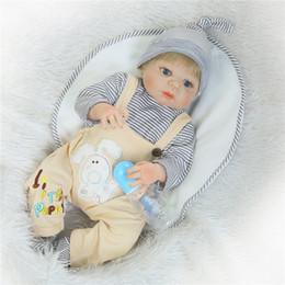 "Wholesale Reborn Doll Hair - Wholesale- NPK 22"" reborn dolls full body silicone baby reborn girl boy baby newborn dolls gift blond hair wig bebe real reborn bonecas"