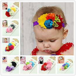 Wholesale Halloween Shabby - Wholesale- Child Flower Headband Shabby Chic Headbands Halloween Headbands Phot Prop Kids Christening Head band 1pc HB231