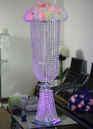 2019 kristalltisch-mittelstücke 100CM hohe Upscale Crystal Bead Vorhang zitiert Hochzeit Mittelstücke Tischdekoration Kerzenständer Willkommen Bereich Dekoration Requisiten Kostenloser Versand günstig kristalltisch-mittelstücke