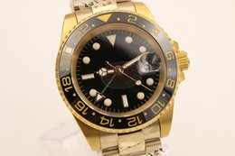Wholesale Black Ceramic Watch Sale - 2017 Hot Sale Luxury Brand Automatic Movement Watch Men Gmt Ceramic Bezel Black Dial Stainless Band Male Clock Montre Homme