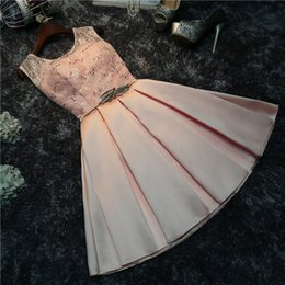 Wholesale Cheap Maid Honour Dresses - Short Bridesmaid Dresses Cheap 2018 New Silver Gray Champagne Pink Maid Of Honour Wedding Party Dress In Stock Bridesmaids Dress Gowns