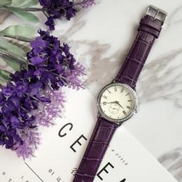 Wholesale Bracelets Free Shipping Purple - 2017 New mode Fashion lady leathewatches women watch rose gold Stainless Steel black Bracelet Wristwatches Brand female clock free shipping