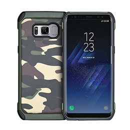 Wholesale Military Tough Case Cover - Military Camouflage Case For Galaxy S8 Plus Hybrid Tough Rugged TPU PC Shockproof Back Cover for Samsung Galaxy S8 S7 S6 Edge