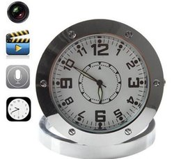 Wholesale Spy Camera Clock Dhl - DHL HOT Hidden Spy Alarm Desk Clock Home Security Clock Recorder Video Security Hidden Spy Camera Cam Sound Motion Detector