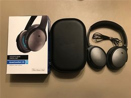 Wholesale Android Logos - Wired Overear Stereo Headphones QC * 25 Noise Canceling Headband Earphone With Logo High Quality Headsets for IOS Android 2pcs Free DHL