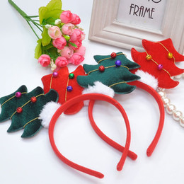 Wholesale Ornament Manufacturers - Hot children Christmas ornaments three-dimensional Christmas tree bell children's hair hoop lovely Yiwu headdress manufacturers wholesale
