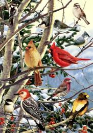 Wholesale Canvas Bird Paintings - New diy diamond painting cross stitch kits resin pasted painting full round drill needlework Mosaic Home Decor animal bird Magpie yx0298
