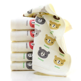 Wholesale Children Washcloth Baby Nutrition Face Towels Washer Handmade Cute Cartoon Wipe Cotton Wash Cloth