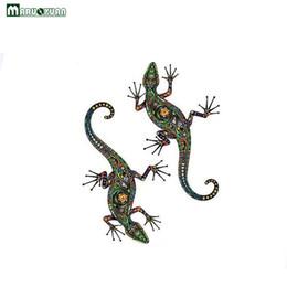 Maruoxuan Nuovo Disegno Astratto Modello etnico Adesivo Motivo floreale colorato Gecko Adesivi murali per bambini Camere Decorazione da