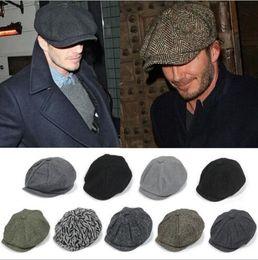 Novas chegadas Adulto Newsboy Caps Hat todas as partidas boinas chapéu de inverno quente chapéu mais 25 cores de Fornecedores de uniformes de cozinha