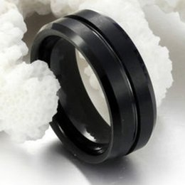 Wholesale Celtic Tungsten Carbide Wedding Band - band Size 7 8 9 10 11 12 13 14 15 8MM Black Tungsten Carbide Wedding Engagement School Graduation Cocktail Grooved Ring Band