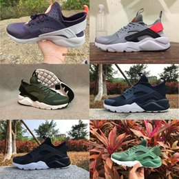 Wholesale Designed Shoes Women - New Design Air Huarache 4 IV Running Shoes For Women & Men Lightweight Huaraches Sneakers Athletic Sport Outdoor Huarache Shoes 5.5-11