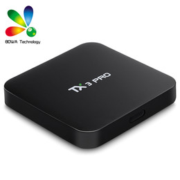 multi tv media player Coupons - TX3 Pro TV Box Android 6.0 Smart TV Box Amlogic S905X Quad Core 1GB + 8GB ROM 4K 2.4G WiFi Multi-Media Player